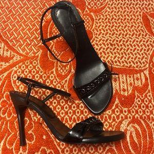 Mixx Sexy Black Strappy Heels (Size 10)